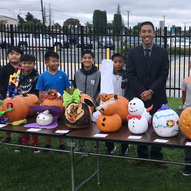 Students vote for the best pumpkin carving.  Our participants did an amazing job!